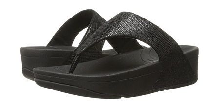 FitFlop Lulu wedges black sandlas-Beach-blaque colour