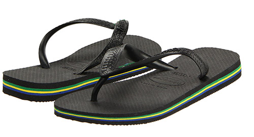 Havaianas Brazil Flop Flop black sandals-Beach-blaque colour